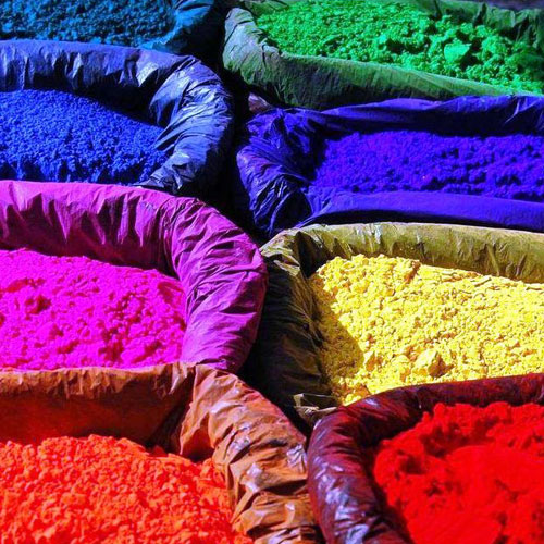 photo of brightly coloured powders